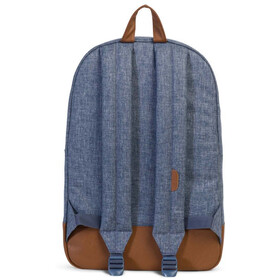 Herschel Heritage Backpack Unisex, dark chambray crosshatch/tan